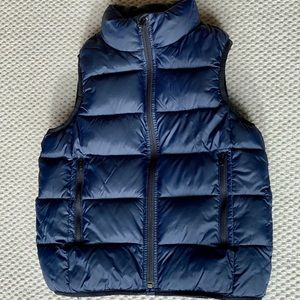 GAP kids puffer navy blue, zip up sz 8
